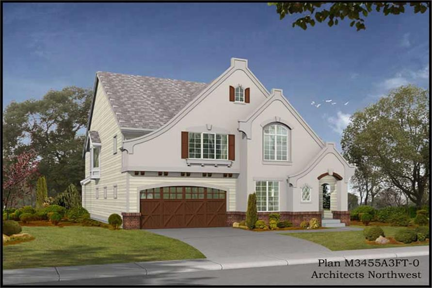Home Plan Rendering of this 4-Bedroom,3480 Sq Ft Plan -115-1426