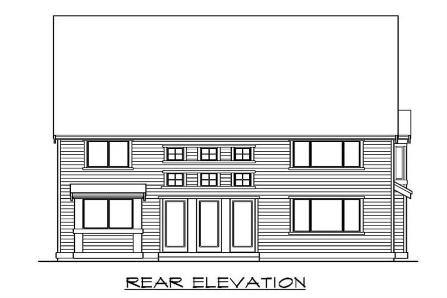Home Plan Rear Elevation of this 4-Bedroom,3480 Sq Ft Plan -115-1426