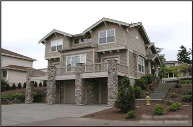 3-Bedroom, 2675 Sq Ft Craftsman House Plan - 115-1427 - Front Exterior