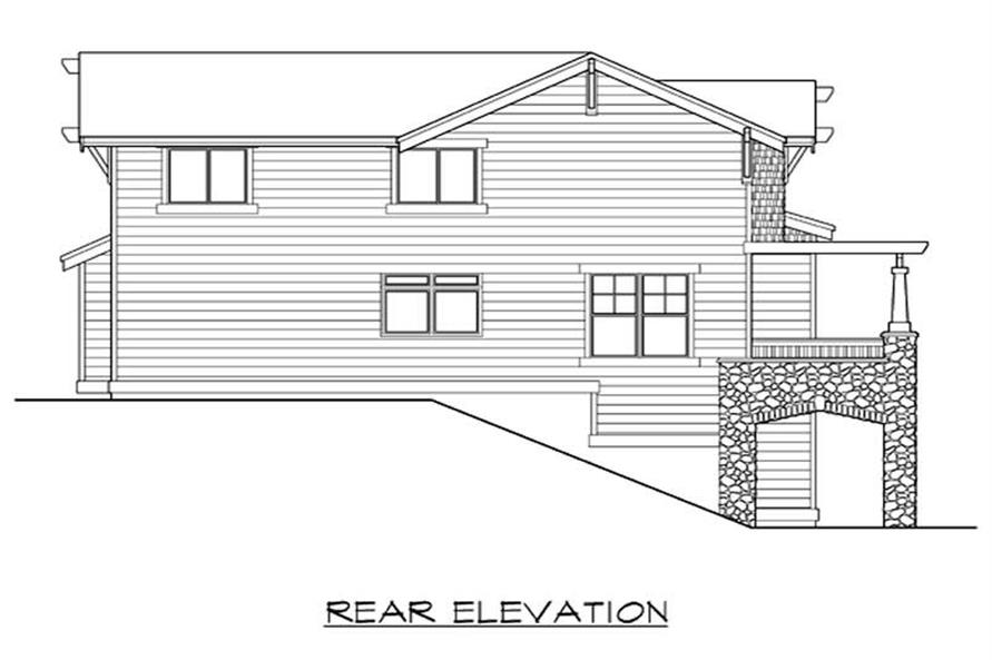 Home Plan Rear Elevation of this 3-Bedroom,2675 Sq Ft Plan -115-1427