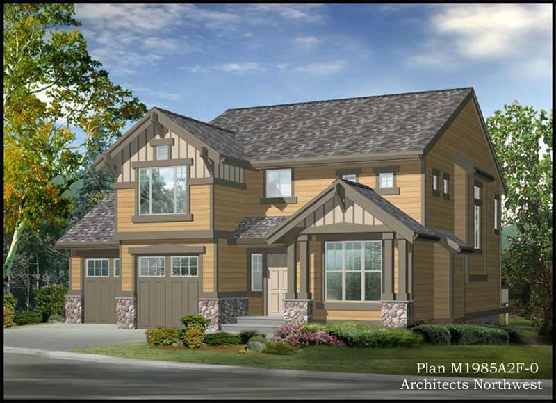 Arts and crafts craftsman house plans home design cd 1985a 9261 - Craftman style home plans collection ...