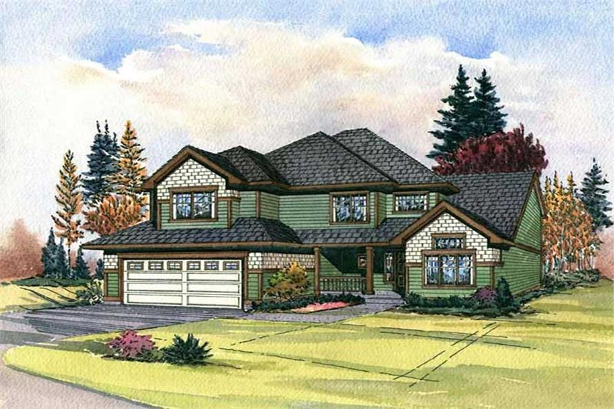 Home Plan Rendering of this 3-Bedroom,2130 Sq Ft Plan -115-1429