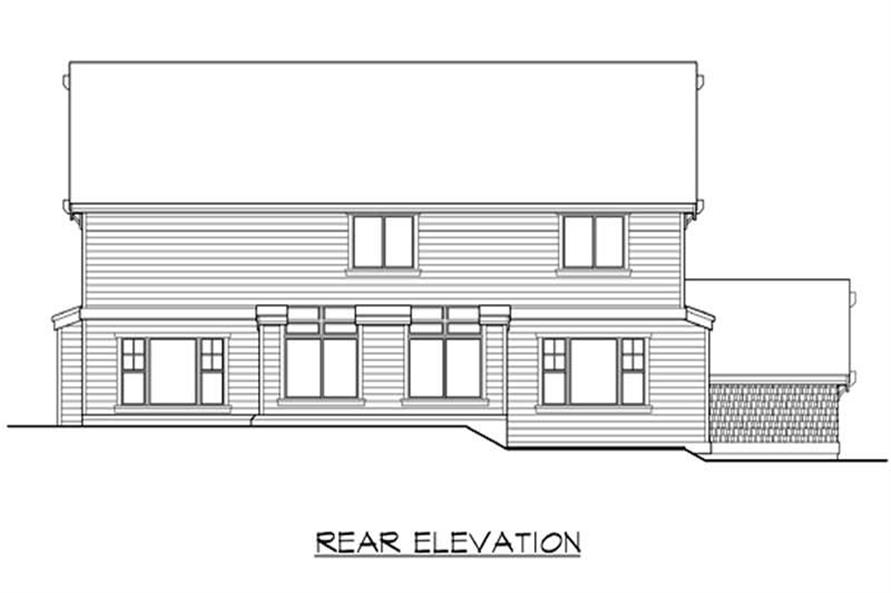Home Plan Rear Elevation of this 4-Bedroom,3155 Sq Ft Plan -115-1430