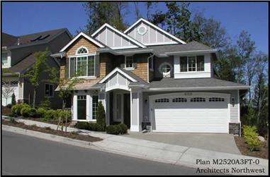 3-Bedroom, 2520 Sq Ft Traditional Home Plan - 115-1431 - Main Exterior