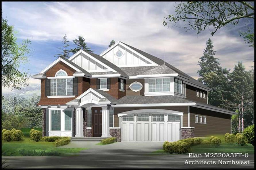 Home Plan Rendering of this 3-Bedroom,2520 Sq Ft Plan -115-1431