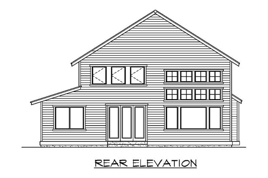 Home Plan Rear Elevation of this 3-Bedroom,2520 Sq Ft Plan -115-1431