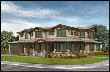 3-Bedroom, 3315 Sq Ft Craftsman Home Plan - 115-1432 - Main Exterior
