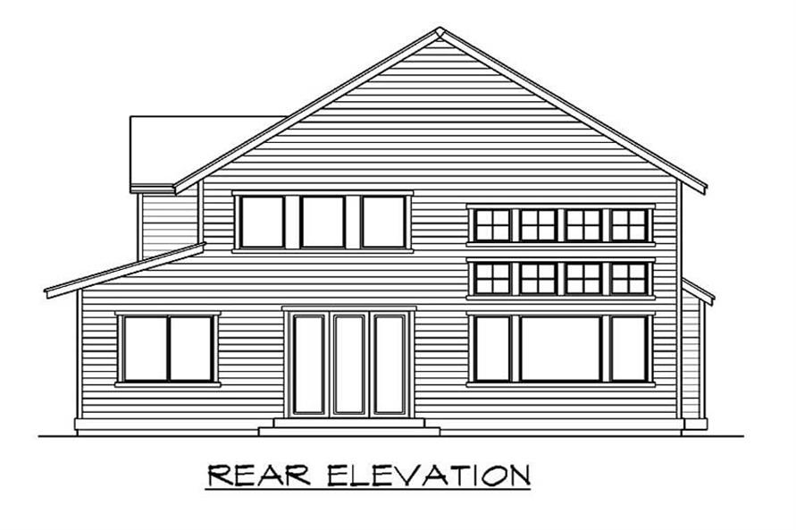 Home Plan Rear Elevation of this 3-Bedroom,2673 Sq Ft Plan -115-1433