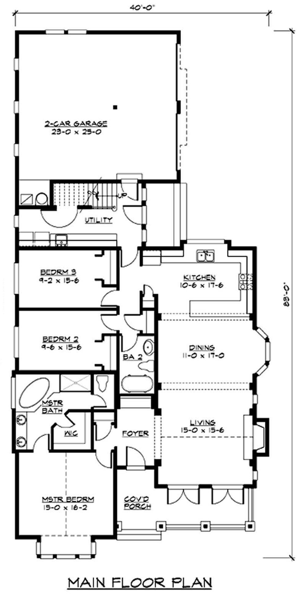 115-1434 house plan first floor