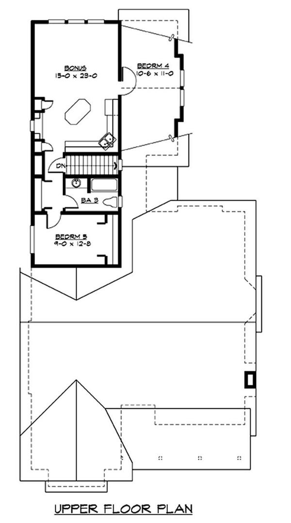 115-1434 house plan second floor