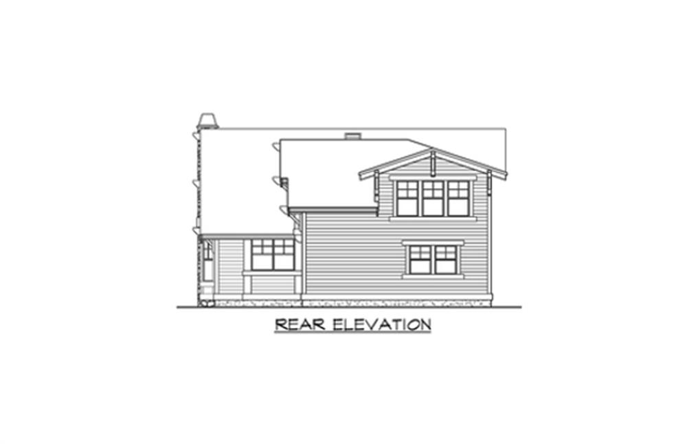 115-1434: Home Plan Rear Elevation