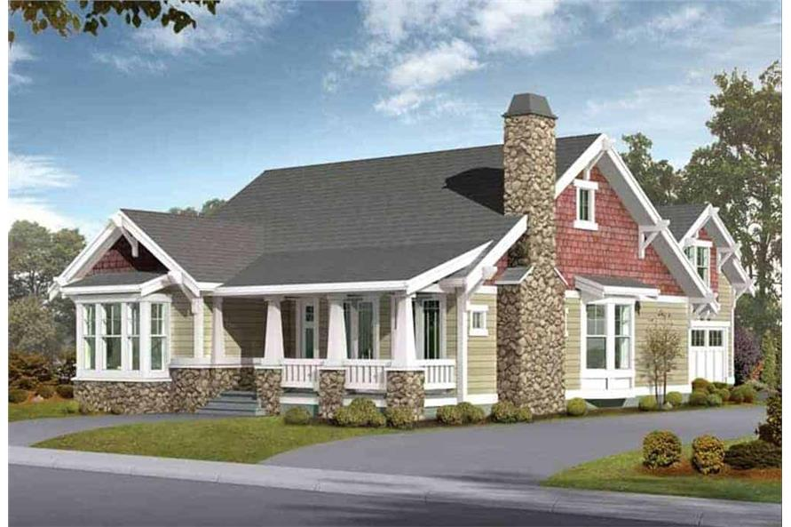 Front View of this 5-Bedroom,2570 Sq Ft Plan -115-1434