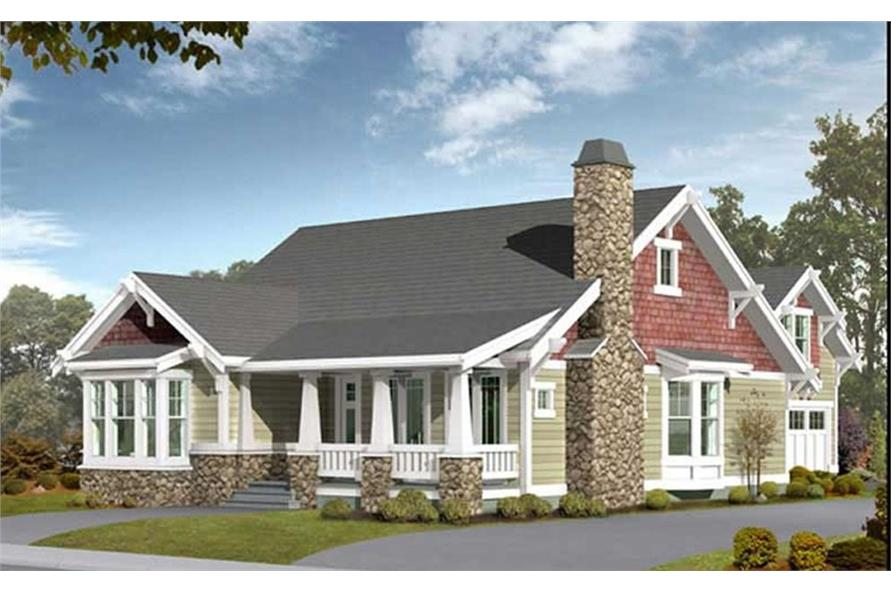 Craftsman farmhouse house plans home design 115 1434 for Farmhouse building plans photos
