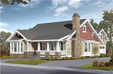 5-Bedroom, 2570 Sq Ft Craftsman House Plan - 115-1434 - Front Exterior
