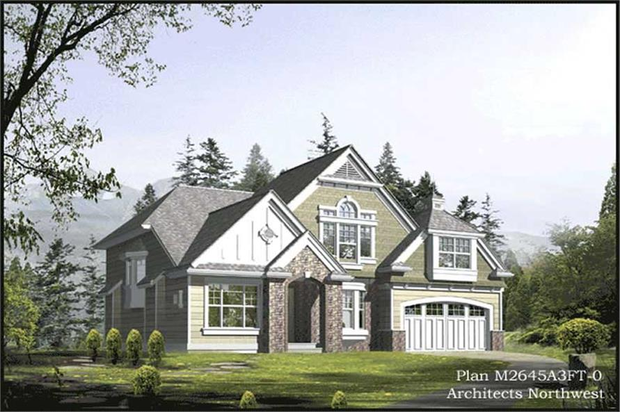4-Bedroom, 2645 Sq Ft Traditional House Plan - 115-1435 - Front Exterior