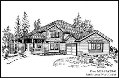 3-Bedroom, 2485 Sq Ft Country House Plan - 115-1438 - Front Exterior