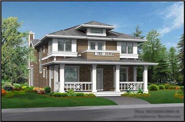 3-Bedroom, 2505 Sq Ft Craftsman House Plan - 115-1439 - Front Exterior