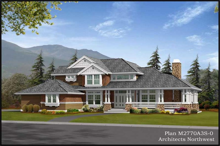Main Elevation of this 4-Bedroom,2770 Sq Ft Plan -2770