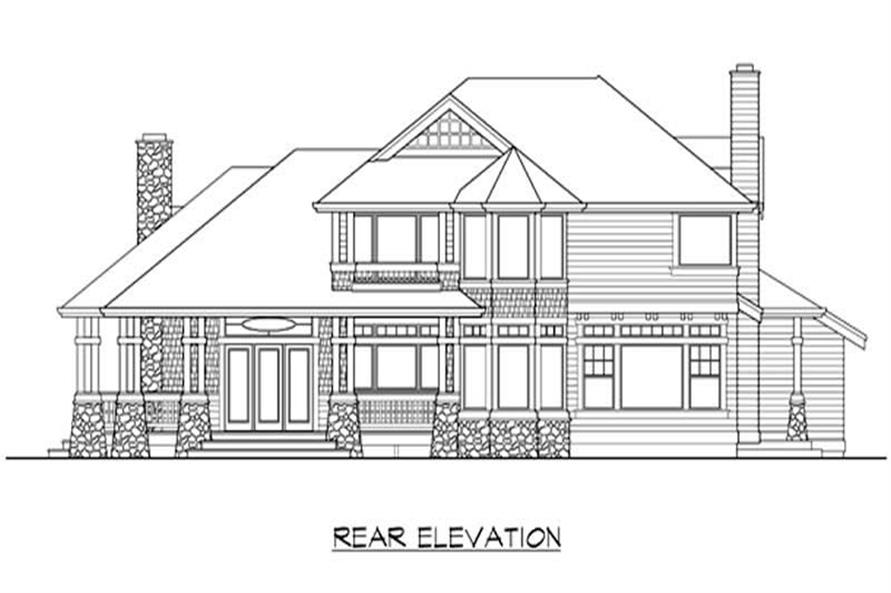 Home Plan Rear Elevation of this 4-Bedroom,2770 Sq Ft Plan -115-1440