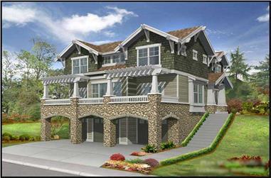 3-Bedroom, 3035 Sq Ft Multi-Level Home Plan - 115-1441 - Main Exterior