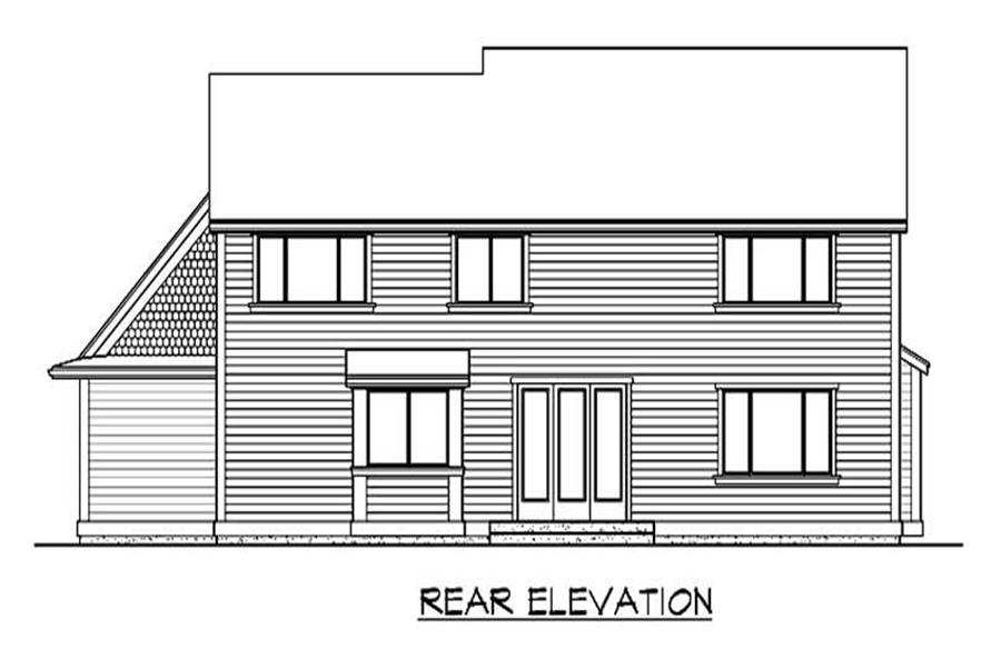 Home Plan Rear Elevation of this 4-Bedroom,2700 Sq Ft Plan -115-1443
