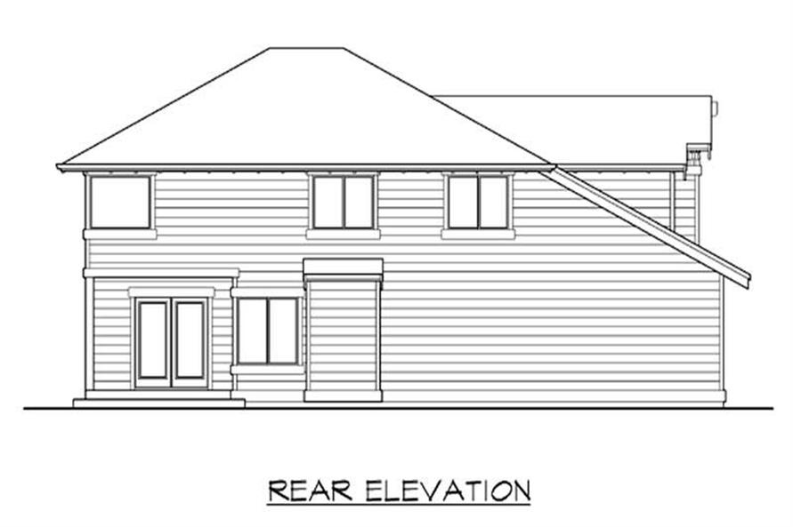 Home Plan Rear Elevation of this 3-Bedroom,2605 Sq Ft Plan -115-1444