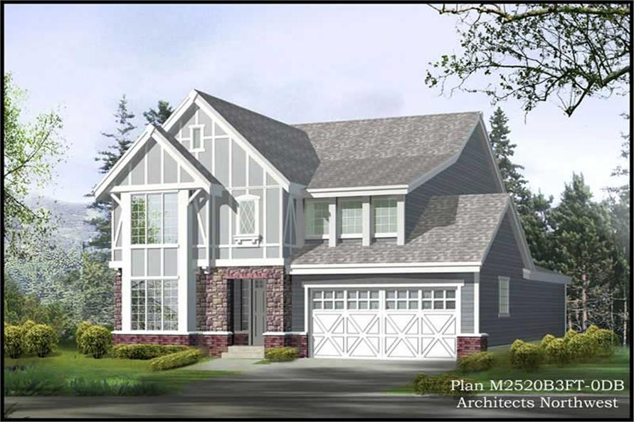 4-Bedroom, 3327 Sq Ft Multi-Level Home Plan - 115-1445 - Main Exterior