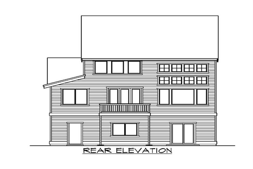Home Plan Rear Elevation of this 4-Bedroom,3327 Sq Ft Plan -115-1445