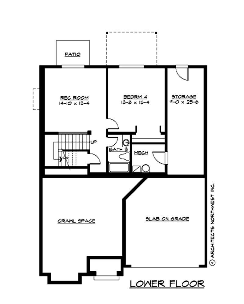 Traditional multi level house plans home design cd for Multi level floor plans