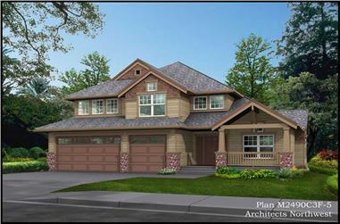 3-Bedroom, 2565 Sq Ft Ranch House Plan - 115-1448 - Front Exterior