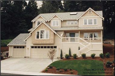 4-Bedroom, 2475 Sq Ft Country House Plan - 115-1450 - Front Exterior