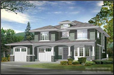2-Bedroom, 1962 Sq Ft Craftsman House Plan - 115-1452 - Front Exterior