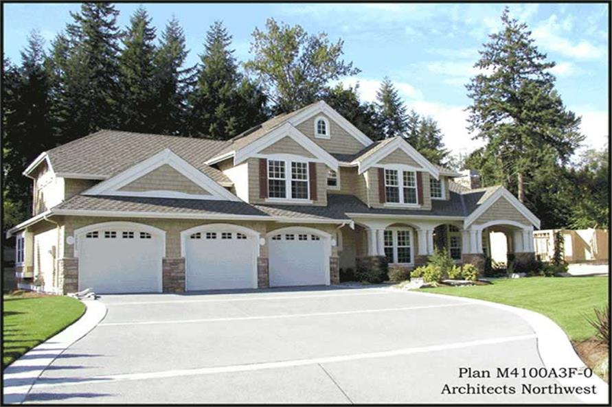 Front Elevation of this 4-Bedroom,4220 Sq Ft Plan -4220