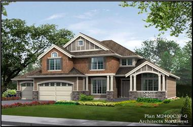 3-Bedroom, 2420 Sq Ft Country House Plan - 115-1455 - Front Exterior