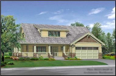 3-Bedroom, 2213 Sq Ft Craftsman House Plan - 115-1457 - Front Exterior
