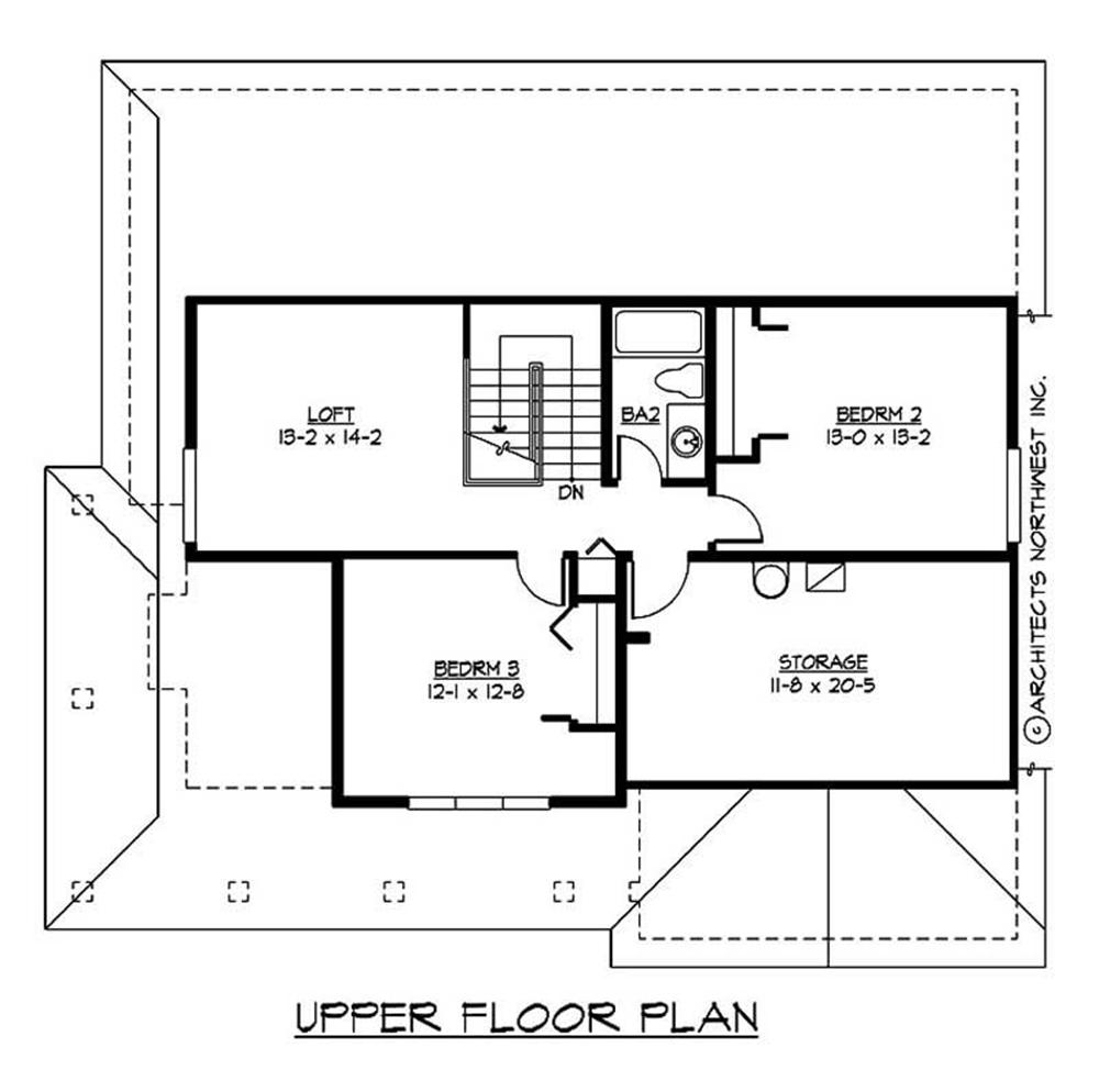 Large images for house plan 115 1457 for Second story floor plan