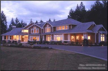 5-Bedroom, 4375 Sq Ft Craftsman Home Plan - 115-1460 - Main Exterior