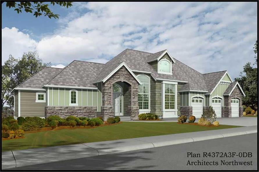 4-Bedroom, 2448 Sq Ft Traditional House Plan - 115-1462 - Front Exterior