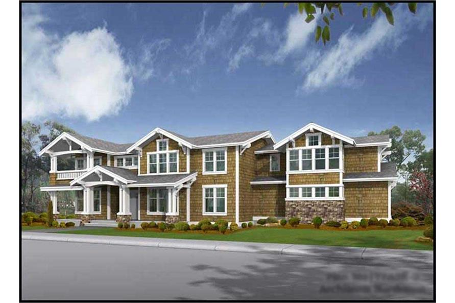 4-Bedroom, 4177 Sq Ft Craftsman Home Plan - 115-1463 - Main Exterior
