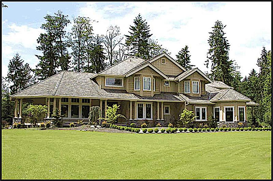 Landscaping of this 4-Bedroom,4100 Sq Ft Plan -4100