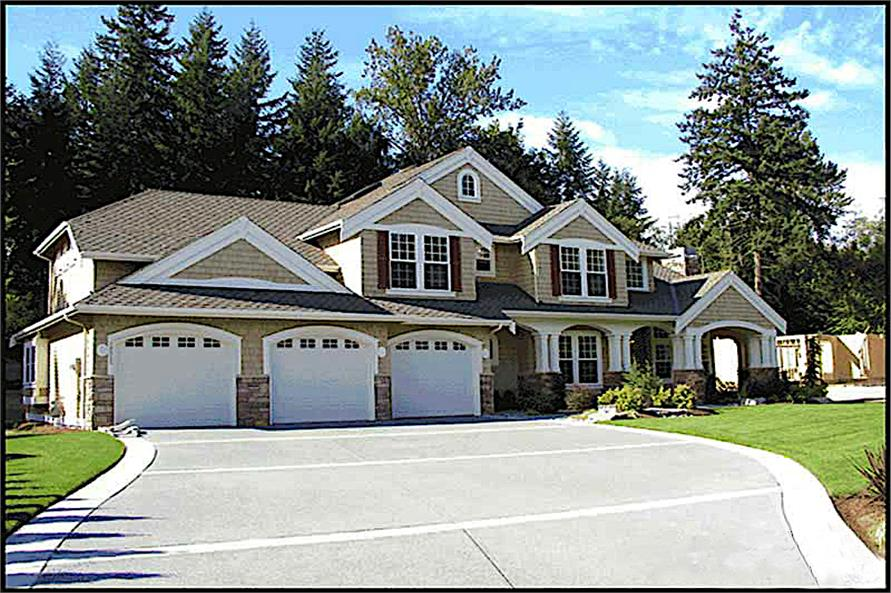 Garage of this 4-Bedroom,4100 Sq Ft Plan -4100
