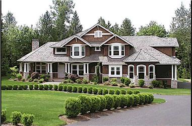 4-Bedroom, 4100 Sq Ft Craftsman Home Plan - 115-1465 - Main Exterior
