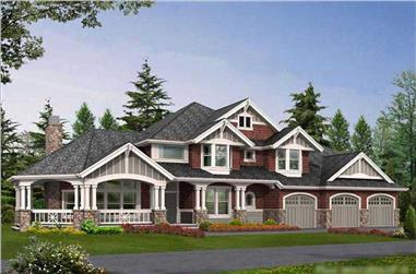 Craftsman style home plan (ThePlanCollection: House Plan #115-1465)