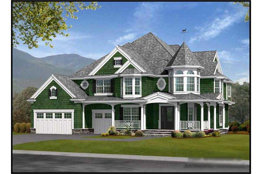 4-Bedroom, 4060 Sq Ft Craftsman Home Plan - 115-1466 - Main Exterior