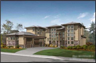 4-Bedroom, 4395 Sq Ft Contemporary Home Plan - 115-1467 - Main Exterior