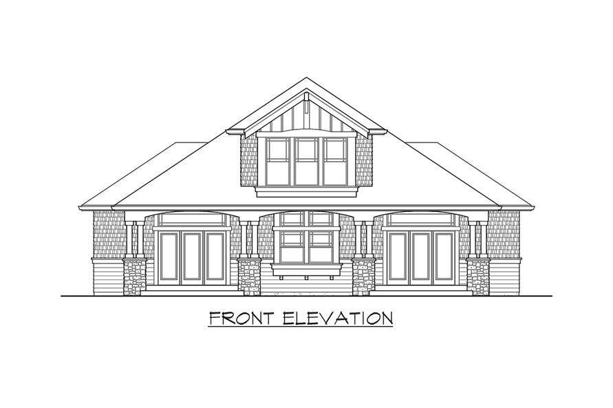 115-1468: Home Plan Front Elevation