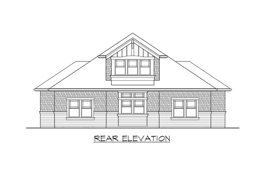 115-1468: Home Plan Rear Elevation