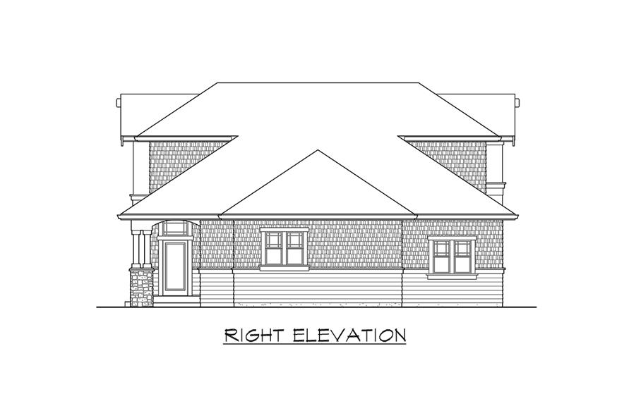 115-1468: Home Plan Right Elevation