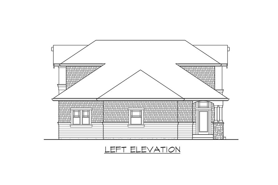 115-1468: Home Plan Left Elevation