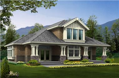 3-Bedroom, 2061 Sq Ft Arts and Crafts Home Plan - 115-1468 - Main Exterior